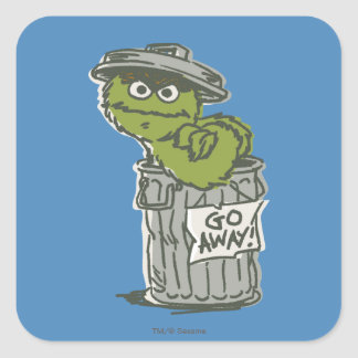 Oscar the Grouch Vintage 2 Square Sticker