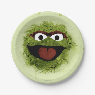 Oscar the Grouch | Watercolor Trend 7 Inch Paper Plate
