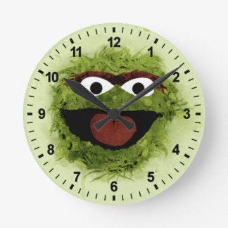 Oscar the Grouch | Watercolor Trend Round Clock