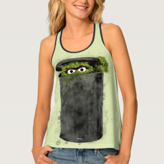 Oscar the Grouch | Watercolor Trend Singlet