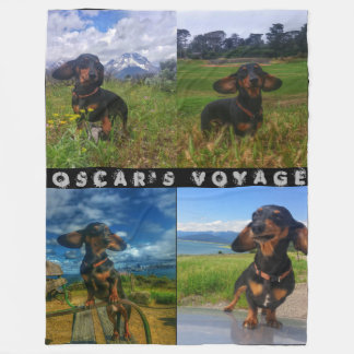 Oscar's Voyage Fleece Blanket