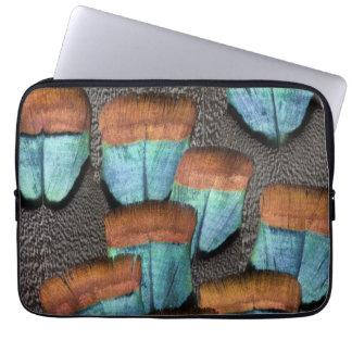 Oscillated Turkey feather pattern Laptop Sleeve