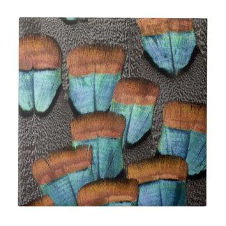 Oscillated Turkey feather pattern Tile