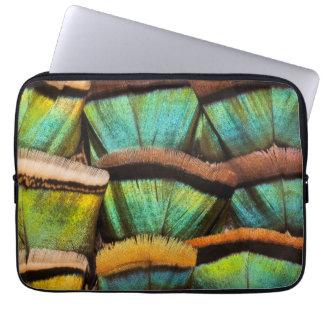Oscillated Turkey feathers Laptop Sleeve