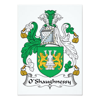 O'Shaughnessy Family Crest Card