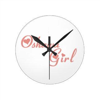 Oshawa Girl Round Clock