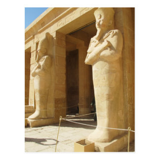 Osirian statues of Hatshepsut -  female pharaoh Postcard