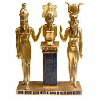 Osiris, Horus, & Isis - Ornament Sculpture Photo Sculpture Decoration
