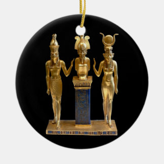 Osiris, Horus, & Isis - Yule - 3NBG Round Ceramic Decoration