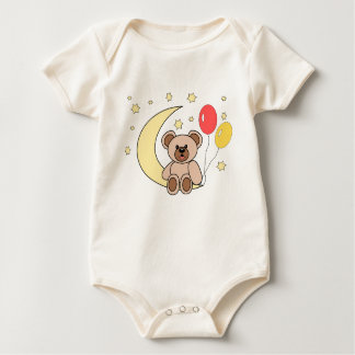 osito and moon baby bodysuit
