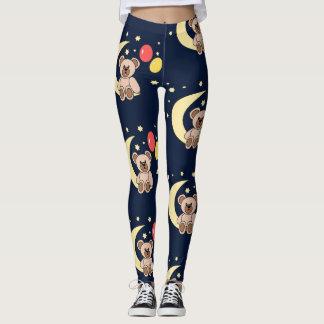osito and moon leggings