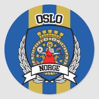 Oslo Classic Round Sticker