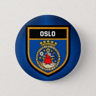 Oslo Flag 6 Cm Round Badge