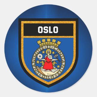 Oslo Flag Classic Round Sticker