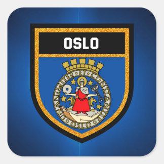 Oslo Flag Square Sticker