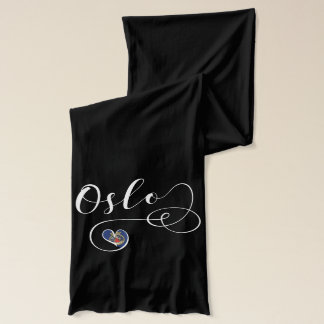 Oslo Heart Scarf, Norway Scarf
