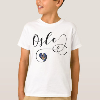 Oslo Heart Tee Shirt, Norway