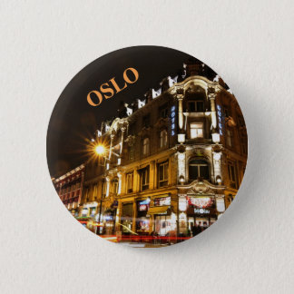 Oslo, Norway at night 6 Cm Round Badge