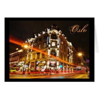 Oslo, Norway at night Card