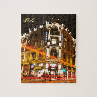 Oslo, Norway at night Jigsaw Puzzle