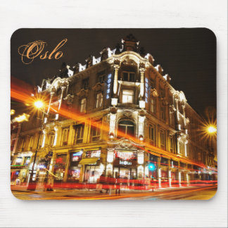 Oslo, Norway at night Mouse Pad