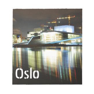 Oslo, Norway at night Notepad