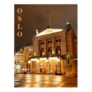 Oslo, Norway at night Postcard
