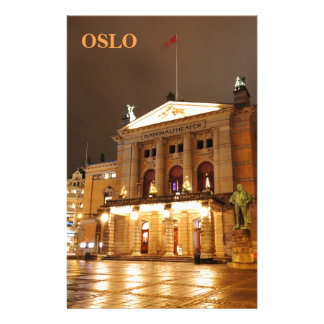 Oslo, Norway at night Stationery