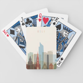 Oslo, Norway | City Skyline Bicycle Playing Cards