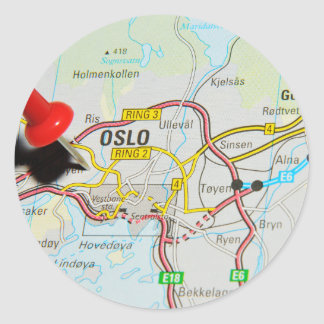 Oslo, Norway Classic Round Sticker