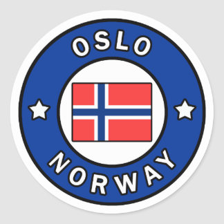 Oslo Norway Classic Round Sticker