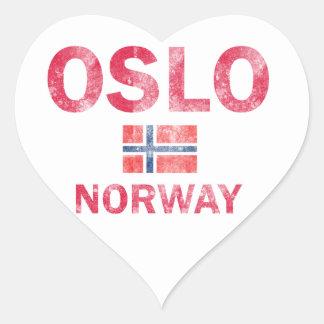 Oslo Norway Designs Heart Sticker
