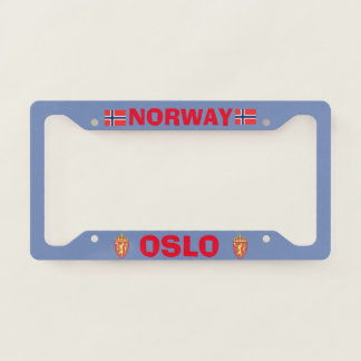 Oslo Norway License Plate Frame