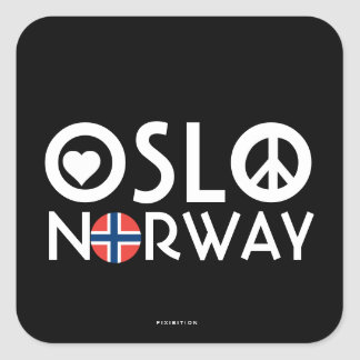 Oslo Norway Love Peace Sticker 2
