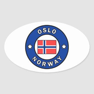 Oslo Norway Oval Sticker
