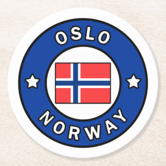 Oslo Norway Round Paper Coaster