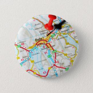 Oslo, Norway, Scandinavia 6 Cm Round Badge