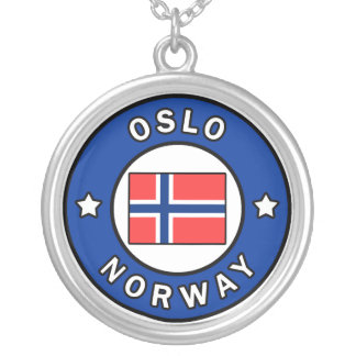 Oslo Norway Silver Plated Necklace