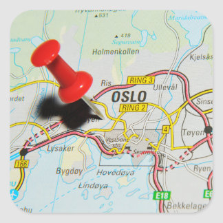 Oslo, Norway Square Sticker