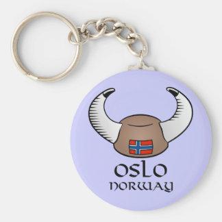 Oslo Norway Viking Hat Key Ring