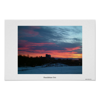 Oslo Sunset Poster