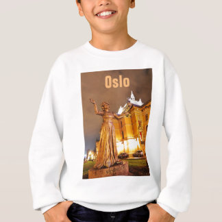 Oslo theatre at night sweatshirt
