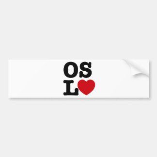 Oslove Bumper Sticker