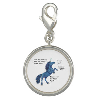 Osm with Herd Info - Round Charm Silver Plated