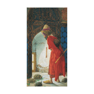 Osman Hamdi Bey The Tortoise Trainer Canvas Print