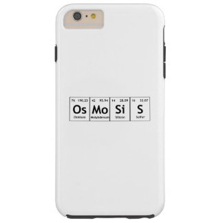 OsMoSiS Periodic Table Elements Word Chemistry Tough iPhone 6 Plus Case