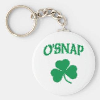 O'Snap Shamrock Basic Round Button Key Ring