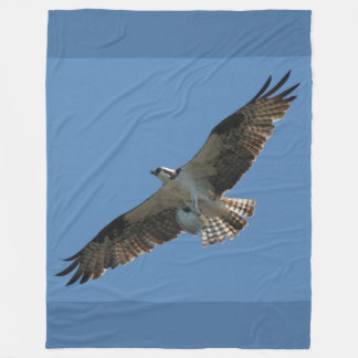 Osprey Bird Fish Flying Animal Fleece Blanket