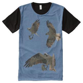 Osprey Birds Fish Animals Wildlife Flying T-Shirt