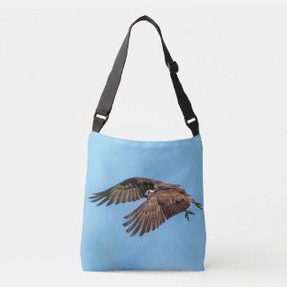Osprey in flight at Honeymoon Island State Park Crossbody Bag